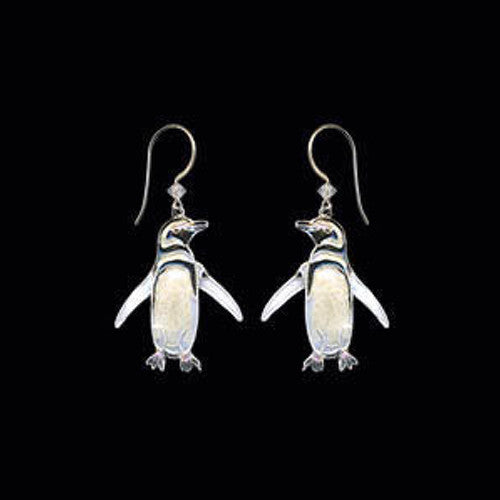 Magellanic Penguin Cloisonne Wire Earrings