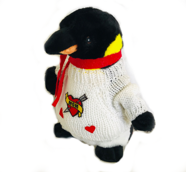 "Happy Mother's Day I Love Mom Emperor Penguin Plush (10"" Tall)"