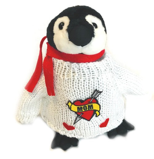 "I Love Mom Penguin Happy Mother's Day Plush (10"" Tall)"