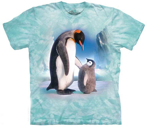 Penguin and Chick T-Shirt, Tee Shirt, Emperor, The Mountain