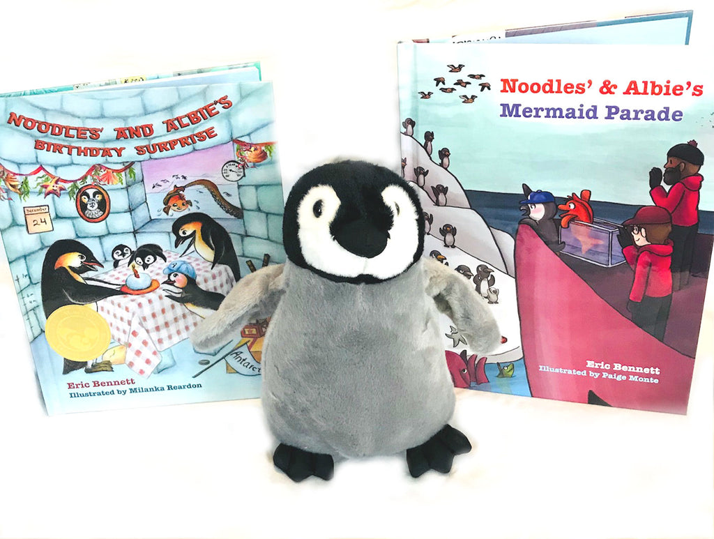 Noodles & Albie Holiday Collection (2 books and plush)