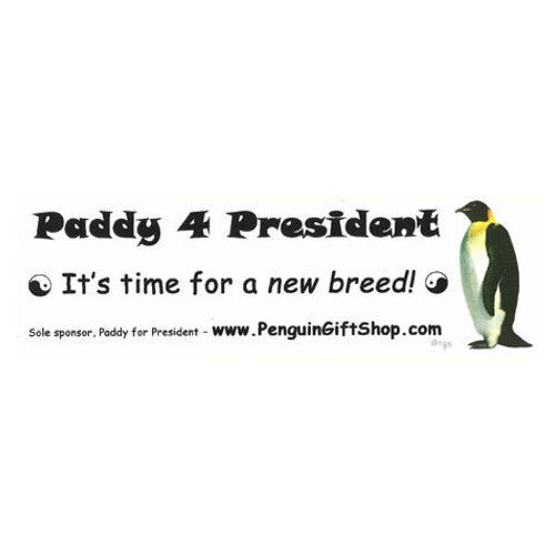 Paddy Penguin 4 President Bumper Sticker