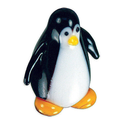 Penguin Figurine Miniature Gift Glass
