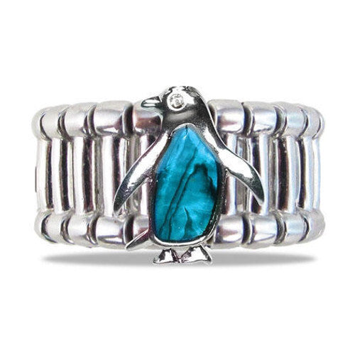 Penguin Aqua Tummy Ring (Adjustable)