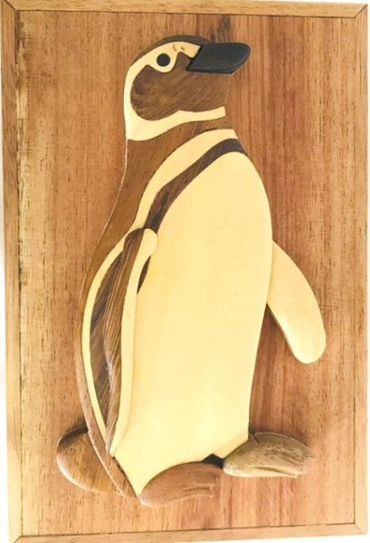 Penguin Jewelry Box Wood Gift