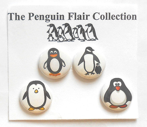 Penguin Flair Pins (individually or as a set)