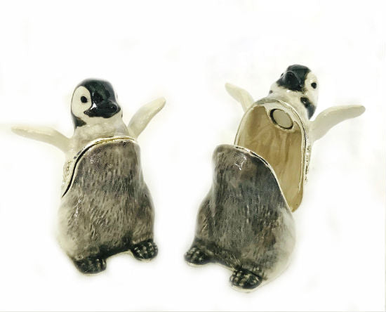Penguin Chick Enamel and Rhinestone Box Gift Hinged