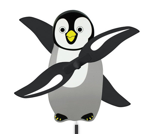 "Penguin Chick Lawn / Garden WhirlyGig (9"" Tall)"