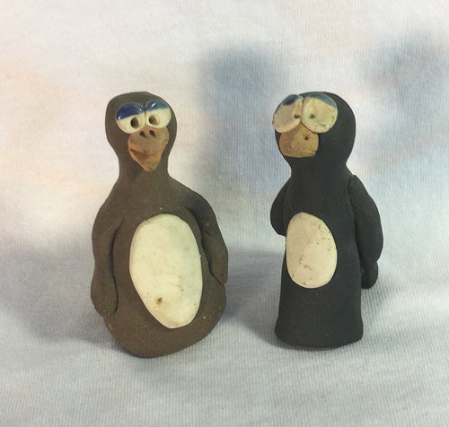 "Hand Crafted Clay Penguins (3"" Tall)"