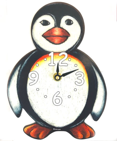 "Penguin Waddling Pendulum Clock (10"" Tall)"