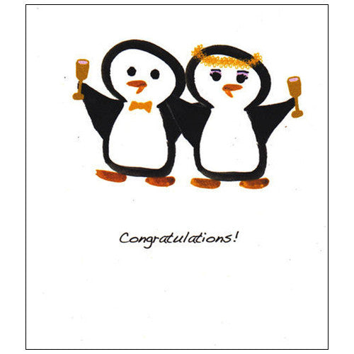 Penguin Couple Wedding Card