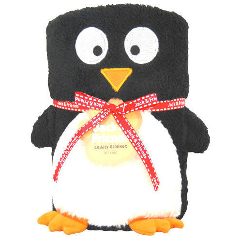 Penguin Plush Towel Kids Pillow Blanket Gift Toddler