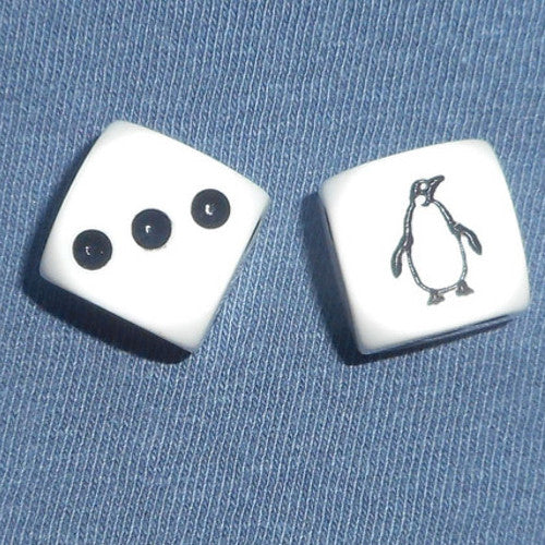 Penguin Dice (pair)