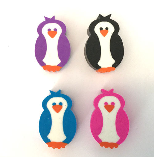 Penguin Pencil Topper Erasers (Pink Only)