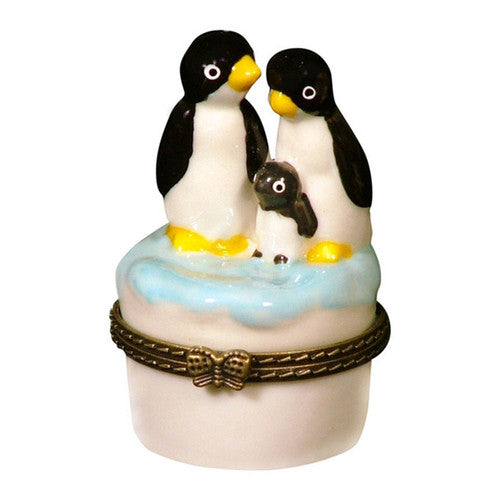 "Penguin Family Porcelain Box (2 1/2"" tall)"