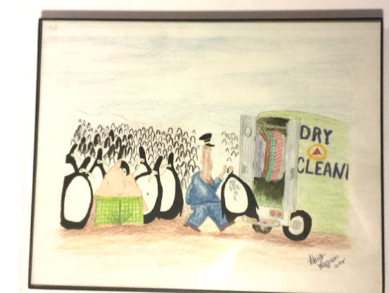 "Penguin Dry Clean (12"" x 14"")"