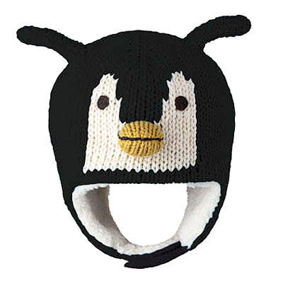 Peppy Penguin Toddler Knit Pilot Hat