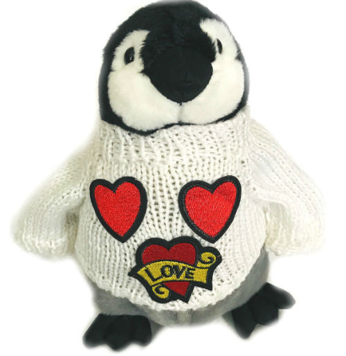 "Penguin Love Hearts Valentine Plush (10"" Tall)"