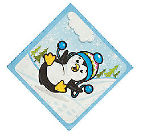 Penguin Party Beverage / Dessert Napkins (16 Per Pack)