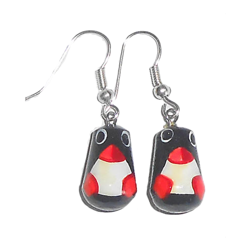 Penguin Nesting Doll Earrings