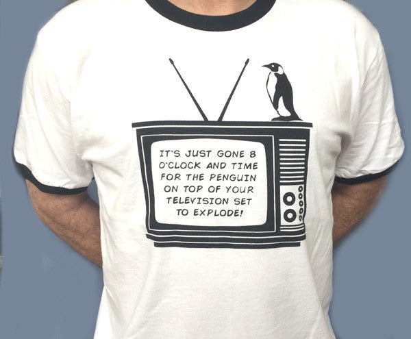 Monty Python Penguin On The Tele Television T-Shirt tee BBC Gift Funny Humor