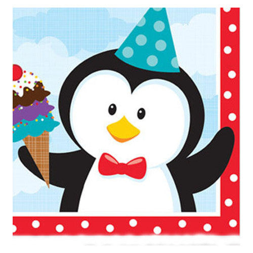 Penguin Party Beverage Napkins (18 Napkins)