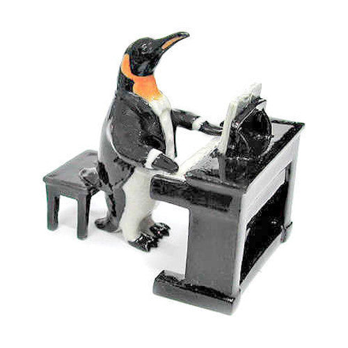 Penguin Piano Player Figurine Gift
