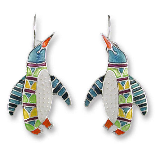 "Penguin Radiance Earrings ( 1 1/8"" Tall)"