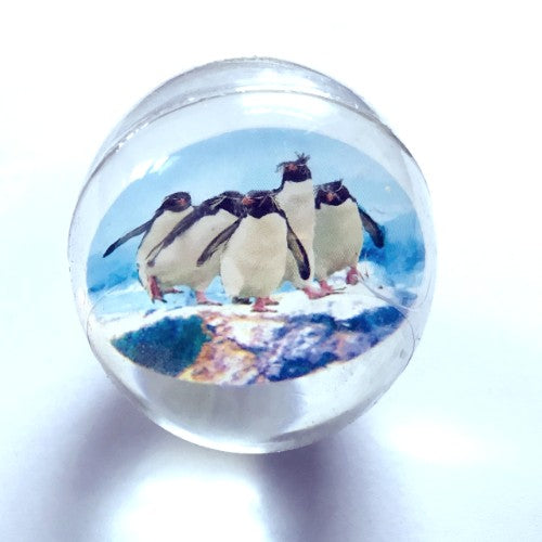 "Rockhopper Penguins Rubber Ball (1 1/2"" diameter)"