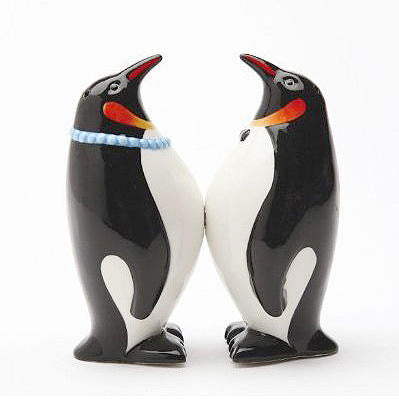 Magnetic Penguin Salt Pepper Shakers Gift Kitchen