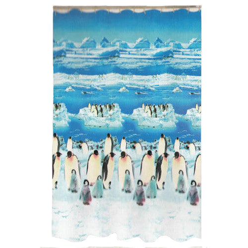 Penguin Shower Curtain Bathroom Gift