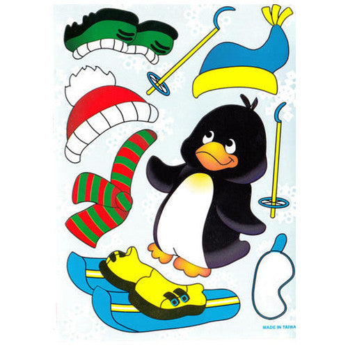 "Penguin Skier Sticker ( 5 1/2"" x 4 1/2"")"
