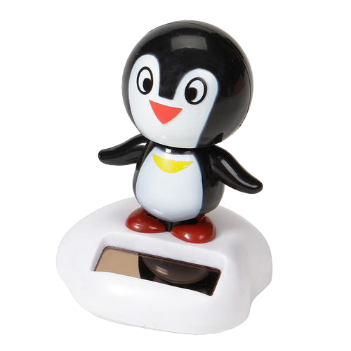"Penguin Solar Dancer (4"" Tall)"