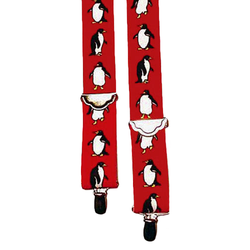 Kids Penguin Suspenders