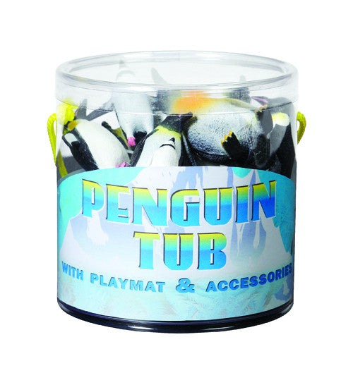Penguin Tub Figurines Set Gift Toy