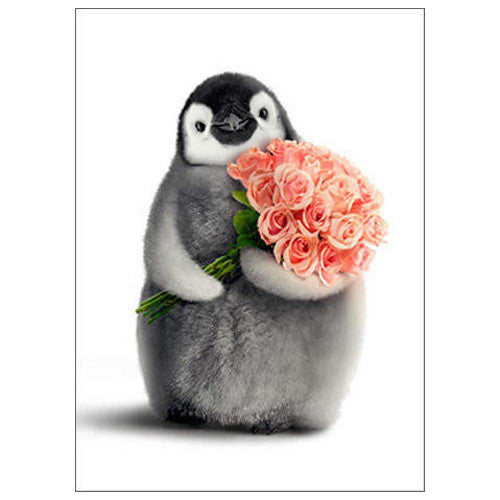 Happy Valentine's Day Penguin Card