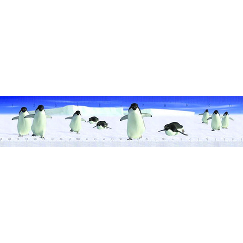 "Penguin Waddle 3-D Ruler (12"" long)"