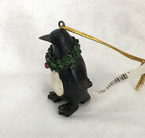 "Penguin Wearing A Wreath Ornament (2 1/2"" Tall)"