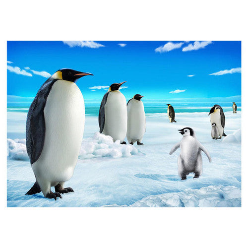 "Penguins On Ice 3-D Magnet (3.5"" x 2.5"")"
