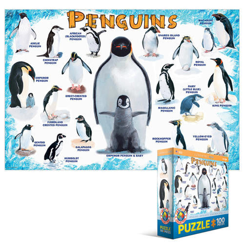 Penguins Of The World Jigsaw Puzzle (100 pieces)