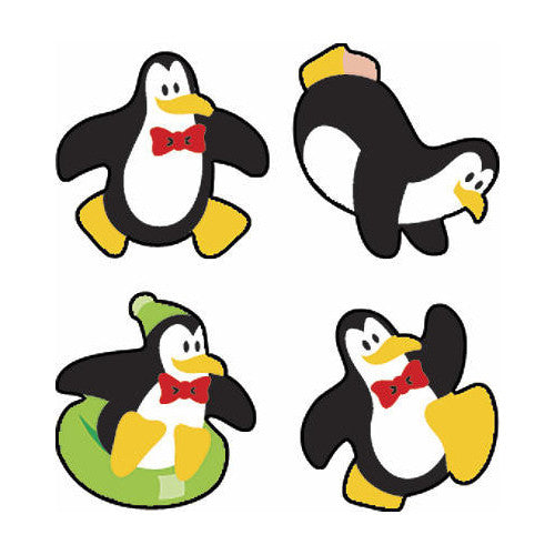 Perky Penguin Stickers (100 stickers per sheet)