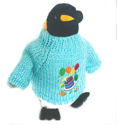 "King Penguin Happy Birthday Plush (10"" Tall)"