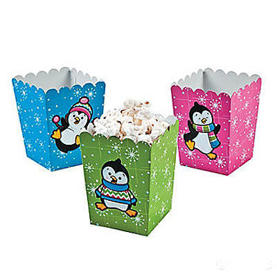 Mini Penguin Popcorn Boxes (Set Of 3)
