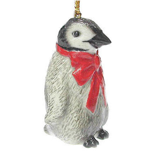 Porcelain Penguin Christmas Ornament