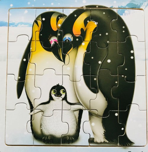 "Penguin Family Kids 20 Piece Jigsaw Puzzle (8"" x 8"")"