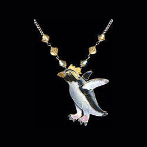 Rockhopper Penguin Pendant With Swarovski Crystals