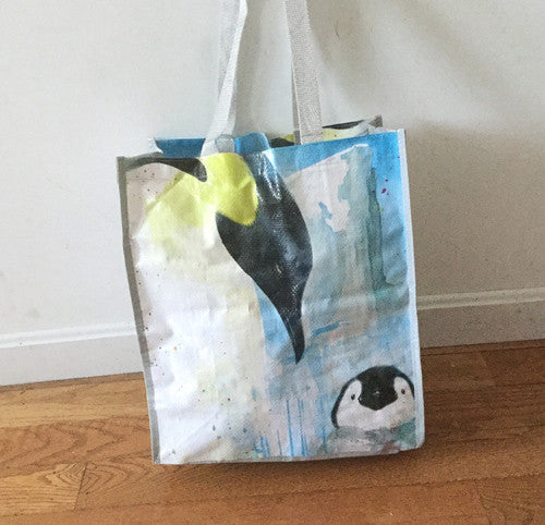 "Penguin Shopping Tote (16"" x 14"" x 10"")"