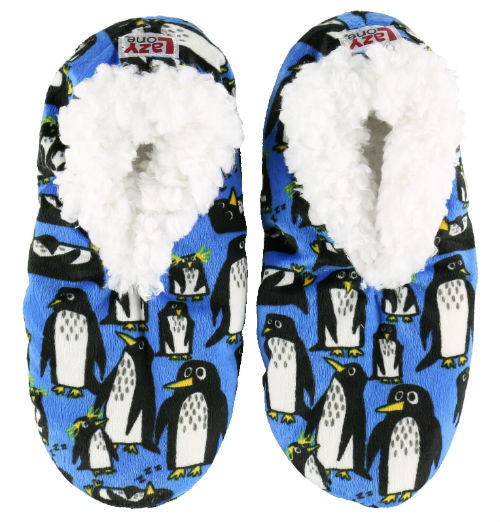 Penguin Slippers, Fuzzy Penguin House Slippers