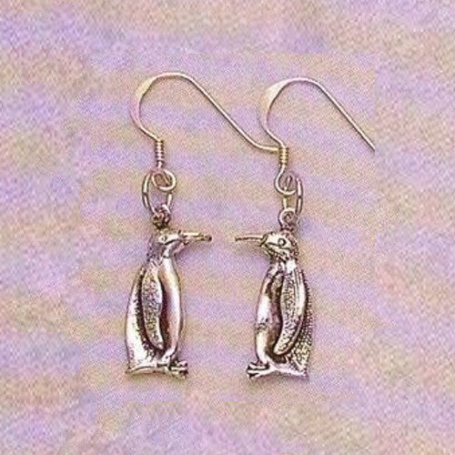 Sterling Silver Penguin Profile Earrings