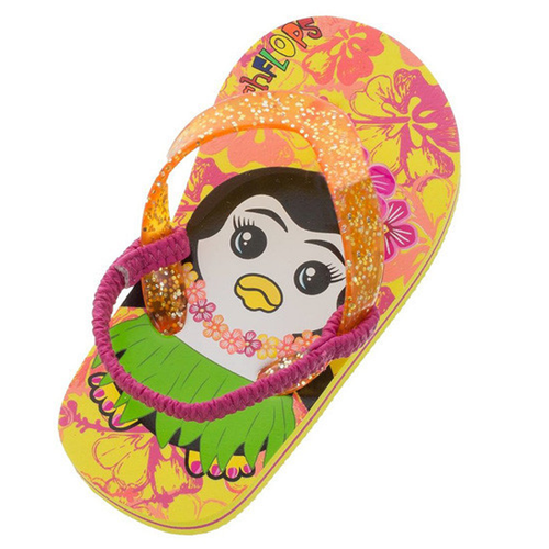Toddler Hula Penguin Flip Flops